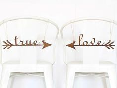 Custom chair signs for the bride and groom. #countrywedding #rusticweddingdecor http://www.gactv.com/gac/photos/article/0,,GAC_42725_6075192.html?soc=pinterest