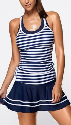 Striped Tankini Swimwear