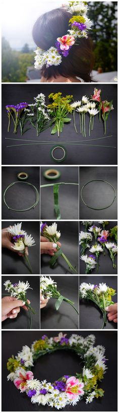Diy-fresh-flower-garland