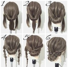 Simple hairstyles medium length hair - New hairstyles 201 .- Einfache Frisuren mittellanges Haar – Neu Haare Frisuren 2018 Simple hairstyles medium length hair hair it Yourself hair - Braided Hairstyles For Wedding, Up Hairstyles, Hairstyle Ideas, Easy Formal Hairstyles, Wedding Hairstyles Tutorial, Easy Homecoming Hairstyles, Bridal Hairstyle, Super Easy Hairstyles, Waitress Hairstyles