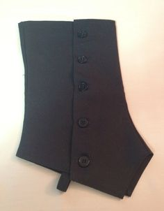 Large Black Canvas Spats with Black Buttons by seamstressofsteam, $30.00