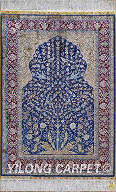 Tree of life Oriental Turkish carpet Tabriz rugs area rugs Materials: Silk Technology: Hand Knotted Size: 2'x3' (61x91cm)-14'x20' (427x610cm) Color: Blue, Yellow, Pink, Beige, Light and green.  Design: Flower, Birds, Tree of life, horse, Medallion, four season, Last Supper and hunting Fit for: bedroom, living room, study room, kitchen, dining area, hallway, gallery, corridor, porch, office etc. … alice@yilongcarpet.com  WhatsApp: +86 15638927921  www.yilongcarpet.com
