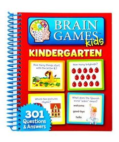 3b2f8f08c1 Look what I found on  zulily! Brain Games Kids Kindergarten 301 Q A  Workbook  zulilyfinds