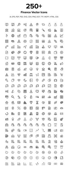 260 Finance Vector Icons