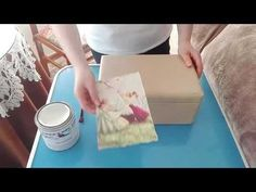 como decorar con Decoupage (servilletas decoradas) - YouTube