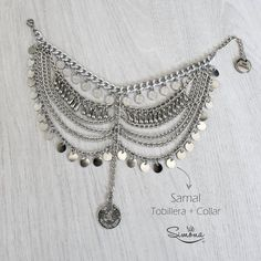 Samal 2 en 1: Tobillera y Collar Gypsy Jewelry, Vintage Jewelry, Handmade Jewelry, Nice Jewelry, Diy Fashion Accessories, Jewelry Accessories, Jewelry Design, Braided Necklace, Diy Necklace