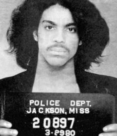 Prince's mug shot, from 1980.