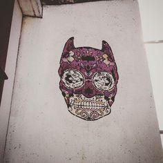 Bat skull ! 😁👍🏻 💀#streetart #art  #paris #france #graffiti #graff…