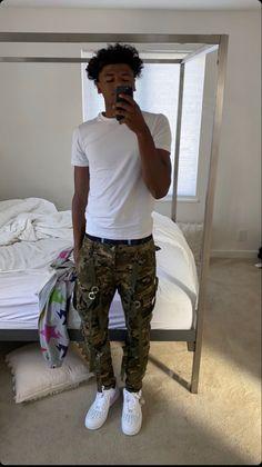 Dope Outfits For Guys, Swag Outfits Men, Tomboy Outfits, Cute Outfits, Cute Lightskinned Boys, Cute Black Boys, Black Men Street Fashion, Mens Fashion Week, Dark Skin Men