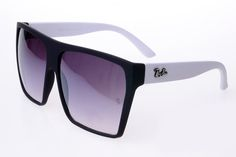 Ray Ban Clubmaster RB2128 Sunglasses White/Black Frame