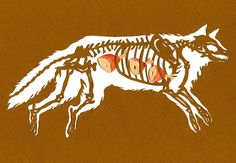 Clever Paper Cut Designs Feature Animals and Their Snacks | Bone-A-Day by Wendy Wallin Malinow