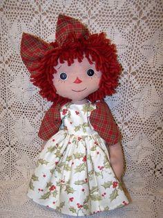 Abby Folk Art Annie Doll Pattern PM $7.95