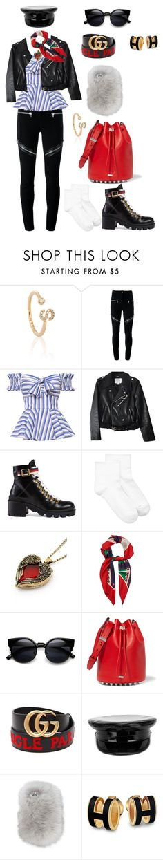 """♡dance with somebody♡"" by chanelsophia ❤ liked on Polyvore featuring Astrid & Miyu, Givenchy, Caroline Constas, Kate Spade, Gucci, Hue, Alexander Wang, Manokhi and Wild & Woolly"