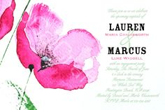 such a pretty invite- similar to our rehearsal :)