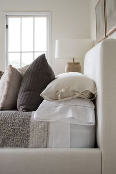7 Tips for Creating a Peaceful Bedroom Setting Peaceful Bedroom, Dream Bedroom, Master Bedroom, Studio Mcgee, Linen Duvet, Sateen Sheets, Bedding Shop, Cozy Bed, Beautiful Space