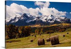 Bales of Hay on Ralph Lauren's Double RL Ranch; Ridgway, Colorado