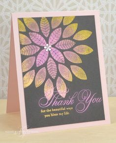 Thank You Medallion Card by Nichole Heady for Papertrey Ink (August 2013)