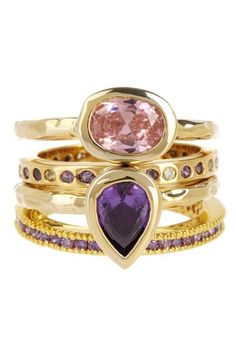 To Me From Me: Jewelry Event Winsome Orchid Ring Set by Treat Yourself on @HauteLook