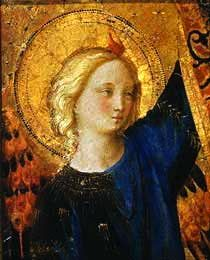 an angel by Fra Angelico