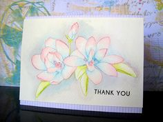 Altenew's Magnolias for Her Watercolored card by Ashwini