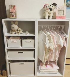 kenさんはInstagramを利用しています:「結構いい感じ!! #ベビー用品収納 #嫁さんが作った#かわいい」 Kid Closet, Kid Spaces, Mom And Baby, Baby Room, Kids Room, Children, Interior, Table, Furniture