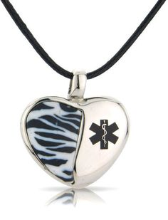 Heart of Africa Medical Pendant...the Company is in Britain, but OMG I want it! They deliver worldwide.....Hmmmm.... fally needs this pendants, heart, necklac, ehlersdanlo syndrom, zebra, ehlers danlos syndrome, africa, ehler danlo, medic