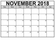 Free Printable Calendar November 2018 Blank Format