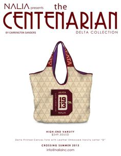 NALIA - High-End Varsity Leather Embossed Delta bag
