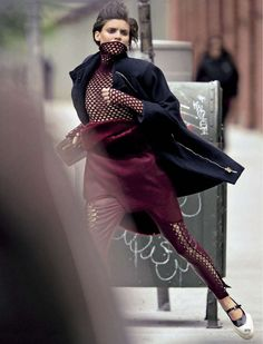 """Alison Nix in """"Effetto Futuro"""" by Hans Feurer for Glamour Italia September 2012"""