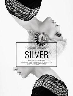 Silver #hair #typography #fashion