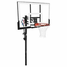 Spalding 54 Acrylic Inground Basketball Hoop Black - Basketball Systems at Academy Sports Ohio State Basketball, Xavier Basketball, Lifetime Basketball Hoop, Basketball Rim, Basketball Academy, Houston Basketball, Basketball Backboard, Basketball Systems, Street Basketball
