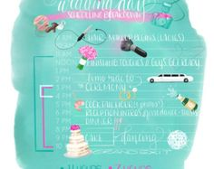 Illustrated Wedding Day Timeline