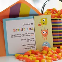 Halloween Party Monster Invitations by InkspotWorkshop on Etsy, $24.00