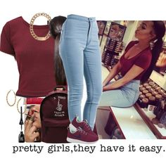 A fashion look from October 2014 featuring Forever 21 tops, NIKE athletic shoes and Alex and Chloe necklaces. Browse and shop related looks.                           |@aniyahope|