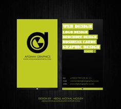 Afghan Graphics Business Card