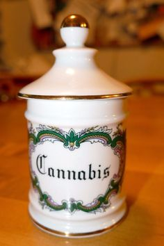 Cannabis Limoge French Porcelain Apothecary Jar | eBay