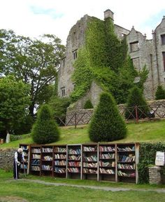 Castle Used Bookstore, Hay-on-Wye, Wales     From tassels on Tumblr
