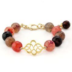 Elisa Ilana Lollies Red Agate Bracelet