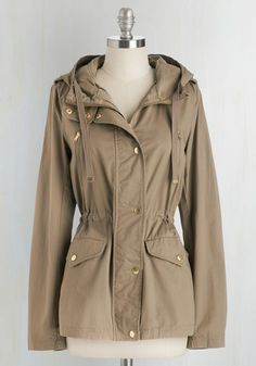 Woods You Be Mine? Jacket. Theres nowhere you feel more at home than among the trees, tucked into this lightweight and lovely coat! #brown #modcloth