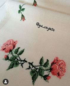 Cross Stitch Flowers, Bed Sheets, Mom, Crossstitch, Embroidery Stitches, Hardanger, Binder, Roses, Cross Stitch