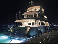 Koonoona Yacht by night - aft view