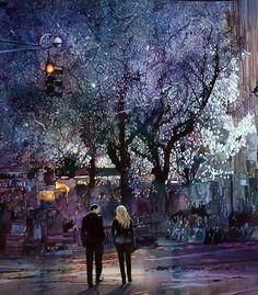 """Sheridan Square, NYC"", watercolor - John Salminen"