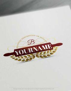 Create bakery rolling pin Logo online