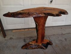 Mesquite pedestal / table. - by BlueStingrayBoots @ LumberJocks.com ~ woodworking community