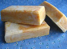 Homemade soap by rebatching Ivory soap bars. Don't need to buy lye.