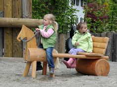 Richter Spielgeräte: Image examples small children - New Site Wood Projects, Woodworking Projects, Backyard Playground, Children Playground, Playground Ideas, Play Equipment, Kids Wood, Wood Toys, Outdoor Fun