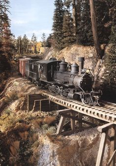 Scenic spot and bridge work example on a G Scale outdoor layout