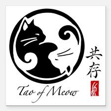 "yin-yang-cats Square Car Magnet 3"" x 3"" for"