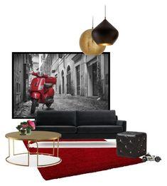 """red vespa"" by katrisha-art ❤ liked on Polyvore featuring interior, interiors, interior design, home, home decor, interior decorating, Andrew Martin, Baxton Studio, Tom Dixon and Pier 1 Imports"