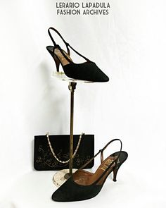 1963 silk slingback Spatafora shoes  #60s #madeinitaly #spatafora #shoes